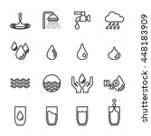 water icons set. | Shutterstock .eps vector #448183909