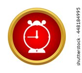 alarm clock icon in simple... | Shutterstock .eps vector #448184995