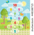 lovely children activity play... | Shutterstock .eps vector #448188715