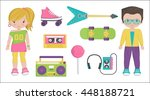 collection of vintage retro... | Shutterstock .eps vector #448188721