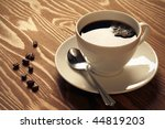close up of a delicious cup of ... | Shutterstock . vector #44819203