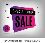 purple sale banner on a... | Shutterstock .eps vector #448192147