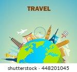 architectural landmarks of the... | Shutterstock .eps vector #448201045