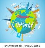 architectural landmarks of the... | Shutterstock .eps vector #448201051