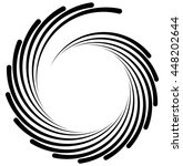 spiral element. concentric... | Shutterstock .eps vector #448202644