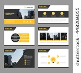 Blue Abstract presentation templates, Infographic elements template flat design set for annual report brochure flyer leaflet marketing advertising banner template   Shutterstock vector #448206055