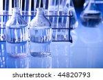 blue chemistry vials | Shutterstock . vector #44820793