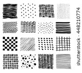 set of hand drawn textures made ... | Shutterstock .eps vector #448210774