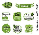 organic and vegan labels set... | Shutterstock .eps vector #448219045