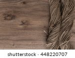 vintage background with wooden... | Shutterstock . vector #448220707