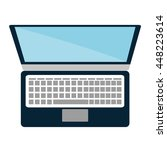 personal computer with keyboard ... | Shutterstock .eps vector #448223614
