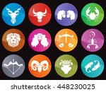 Horoscope In Circle Icon Sign...