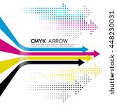 cmyk  cyan and magenta and... | Shutterstock .eps vector #448230031