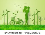 concept of eco friendly and... | Shutterstock .eps vector #448230571
