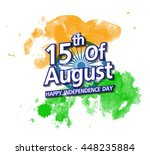 happy indian independence day... | Shutterstock .eps vector #448235884