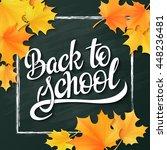 vector hand lettering greeting... | Shutterstock .eps vector #448236481