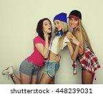three stylish sexy hipster... | Shutterstock . vector #448239031