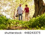 old couple  elderly man and... | Shutterstock . vector #448243375