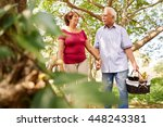 old couple  elderly man and... | Shutterstock . vector #448243381