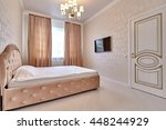 bedroom with a beautiful... | Shutterstock . vector #448244929