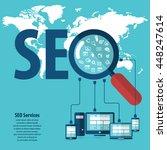 infographics background seo... | Shutterstock .eps vector #448247614