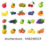 set of vector colorful cartoon... | Shutterstock .eps vector #448248319