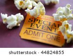 Ticket stub for special event...
