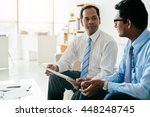 indian business people... | Shutterstock . vector #448248745