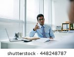 young indian businessman... | Shutterstock . vector #448248787