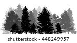 illustration with grey forest... | Shutterstock .eps vector #448249957