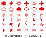 weather vector icon set red... | Shutterstock .eps vector #448250341