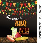 summer bbq fun food design. eps ... | Shutterstock .eps vector #448257709