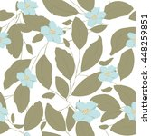 seamless pattern with blue... | Shutterstock .eps vector #448259851