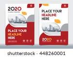 red color scheme with city... | Shutterstock .eps vector #448260001