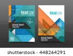 colorful geometric a4 business... | Shutterstock .eps vector #448264291