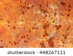 oxidized metal surface making... | Shutterstock . vector #448267111