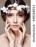 beautiful woman portrait in...   Shutterstock . vector #448268011