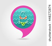 swimsuit vector pin map icon.... | Shutterstock .eps vector #448272874