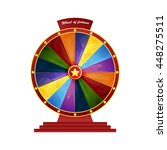 bright colorful wheel of... | Shutterstock .eps vector #448275511