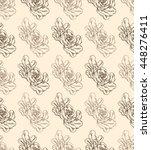 vintage roses pattern | Shutterstock .eps vector #448276411