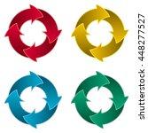 Set Of Four Arrow Circle. Four...