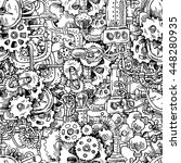 beautiful hand drawn seamless... | Shutterstock . vector #448280935