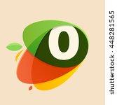 number zero logo in healthy... | Shutterstock .eps vector #448281565