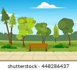 beautiful city park. vector... | Shutterstock .eps vector #448286437