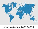 blue similar world map. world... | Shutterstock .eps vector #448286659