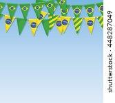 set of brazil flag bunting... | Shutterstock .eps vector #448287049