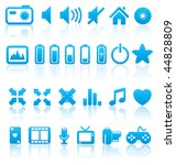 vector multimedia icons and... | Shutterstock .eps vector #44828809