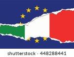 an eu flag illustration with... | Shutterstock .eps vector #448288441