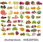 fruits isolated on white... | Shutterstock . vector #448289581