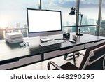 3d render of modern computer... | Shutterstock . vector #448290295